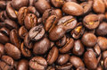 Coffee beans closeup background Royalty Free Stock Photo
