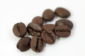 Coffee beans coarsely with a blurred background Stock Images