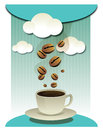 Coffee beans and coffee cup  graphic Royalty Free Stock Images