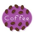 Coffee Beans and Coffee Text Royalty Free Stock Photos