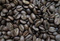 Coffee beans dark brown photography Royalty Free Stock Images