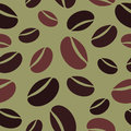 Coffee beans with different sizes square pattern Royalty Free Stock Photos