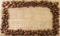 Coffee beans Frame Stock Photography