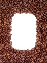 Coffee beans frame (background) Stock Photography
