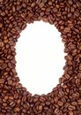 Coffee beans frame (background) Stock Photos