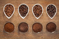 Coffee Beans and Ground Coffee Royalty Free Stock Photo