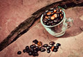 Coffee beans have not been roasted Royalty Free Stock Photo