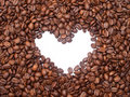 Coffee beans with heart. Stock Image