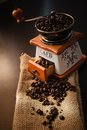 Coffee beans image of roasted full box Stock Photos