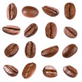 Coffee beans isolated on white Stock Photography