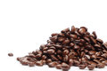 Coffee beans isolated on white background Royalty Free Stock Image