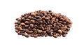 Coffee beans isolated in white background Royalty Free Stock Photo