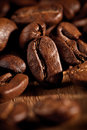 Coffee beans macro Stock Photos