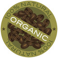 Coffee Beans Organic Label Illustration Royalty Free Stock Photos