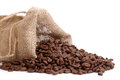 Coffee beans overflowing Royalty Free Stock Photo