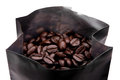 Coffee beans in package Royalty Free Stock Photos