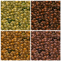 Coffee Beans Seamless Pattern Royalty Free Stock Photo