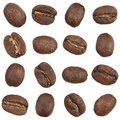 Coffee beans seamless pattern Royalty Free Stock Images