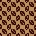 Coffee beans seamless pattern vector illustration Stock Photography