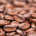 Coffee beans with shallow depth of field Royalty Free Stock Photography