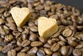 Coffee beans sugar hearts see my other works in portfolio Royalty Free Stock Photo