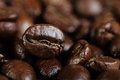 Coffee beans on a table Stock Image