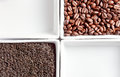 Coffee beans and tea Royalty Free Stock Photo