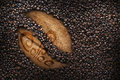 Coffee beans, texture, roasted coffee beans, big bean Royalty Free Stock Photo