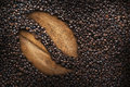 Coffee beans, texture, roasted coffee beans, big bean, cup of coffee Royalty Free Stock Photo
