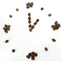Coffee beans time concept idea time cup coffee Royalty Free Stock Photography