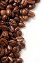 Coffee beans on white Stock Photo