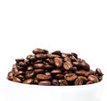Coffee beans in a white cup with copyspace for text coffee bac background or texture concept Royalty Free Stock Photography