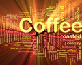 Coffee beverage background concept glowing Royalty Free Stock Images