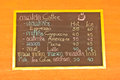 Coffee and beverage menu on wall in shop Royalty Free Stock Photo
