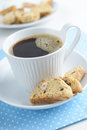 Coffee with biscotti Royalty Free Stock Photo