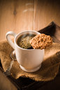 Coffee & Biscuit Royalty Free Stock Images