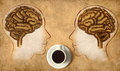 Coffee Brain made of beans Stock Photography