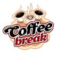 Coffee breack emblem Royalty Free Stock Photo