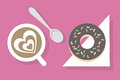 Coffee break: coffee and donut Royalty Free Stock Photo