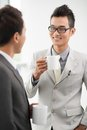 Coffee break with colleague Royalty Free Stock Image