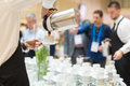 Coffee break at conference meeting. Royalty Free Stock Photo