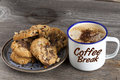 Coffee Break with Cookies Royalty Free Stock Photo