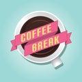 Coffee break flat design vector Royalty Free Stock Photos