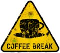 Coffee break sign in the style of a road sign vector Stock Photos
