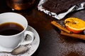 Coffee break with some chocolate Royalty Free Stock Images