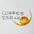 Coffee break stain circle from a cup of in time Royalty Free Stock Images