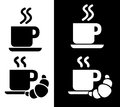Coffee and Breakfast Logo Icons Royalty Free Stock Photos