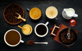 Coffee with Brewing Ingredients Royalty Free Stock Photo