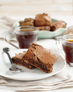 Coffee brownies homemade selective focus Royalty Free Stock Images
