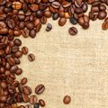 Coffee burlap texture background Royalty Free Stock Photography